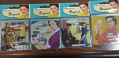 Lot Of 4 Anne Taintor Vintage Revisited Square Magnets Brand New In Packaging