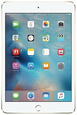 Apple iPad Mini 4 a1550 128GB Gold WiFi + 4G GSM Unlocked - Excellent