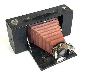 Vintage NO. 3-A FOLDING BROWNIE MODEL A CAMERA-RED BELLOWS