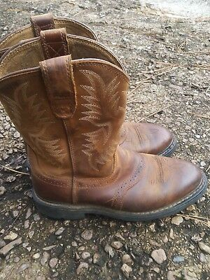 119f29bd5b0 ARIAT SIERRA SADDLE Brown Leather Cowboy Work Boots Men's Size 9 D