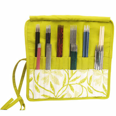 KnitPro knitting needle case for double pointed needles, Greenery.
