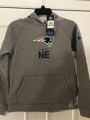 UNDER ARMOUR Patriots NFL Combine Authentic Boys Hooded Shirt Sz  Large f252a884f