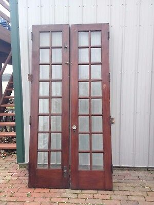 Antique Victorian French Doors, Beveled Glass, Glass Knobs~~OHIO-PICK-UP~~ONLY!!