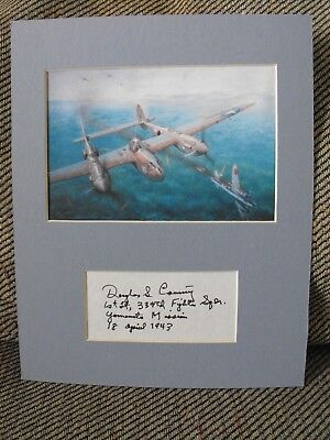 Doug Canning Cut Signature With Matted Picture - Yamamoto Mission