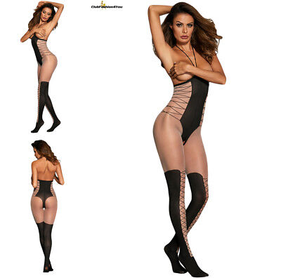Hot Reizwäsche Fishnet Body Stocking Catsuit Netz Body Unterwäsche |H| 790044-2