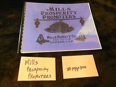 MILLS PROSPERITY PROMOTERS MINT 40 Pages ANTIQUE SLOT MACHINE BOOKLET #MPP300