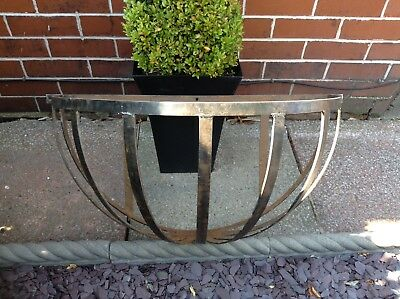 Vintage Wrought Iron Large Horse Hay Log Planter Manger Hanging Wall Basket