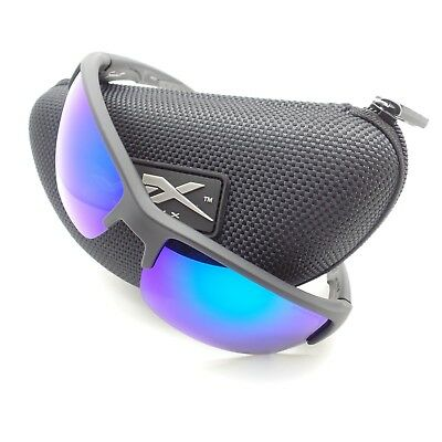b5c9060af59 Wiley X CHSAI29 Saint Matte Black Blue Mirror Polarized New Authentic  Sunglasses