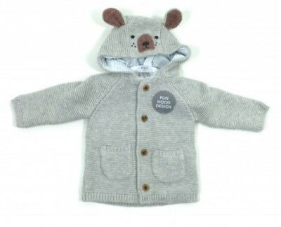 New Baby Boys Chunky Knitted cardigan, Jacket, Marks and Spencer, 3-6 months