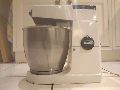 Kenwood Chef Major A707A Mixer White &  with Blue Stainless Bowl & Whisk
