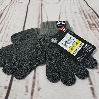 Under Armour Kids Gloves Coldgear 4-6 Years Youth Knit Tag $30