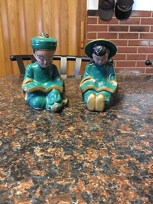 Vintage Chinese Asian Green Figures From Japan