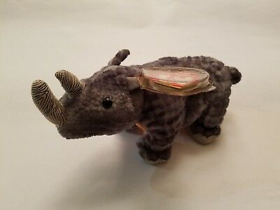 95f7f8c9cfb TY BEANIE BABY ~ NAMI the WWF Rhino ~ Exclusive ~ MINT with MINT ...
