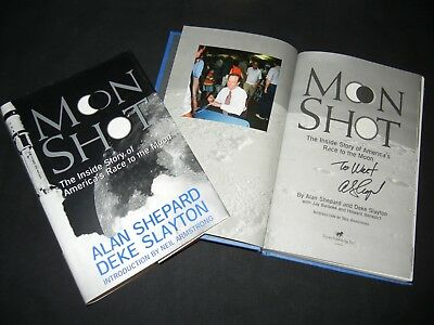 "ALAN SHEPARD Signed Autograph ""MOON SHOT"" Book Apollo Astronaut w/ EXACT PROOF"