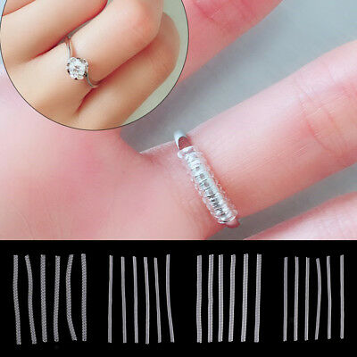 6pcs Invisible Ring Size Adjuster Jewelry Size Reducer Guard for Loose Rings