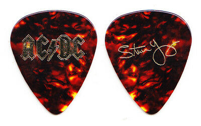 AC/DC Stevie Young Signature Brown Guitar Pick - 2016 Rock Or Bust Tour