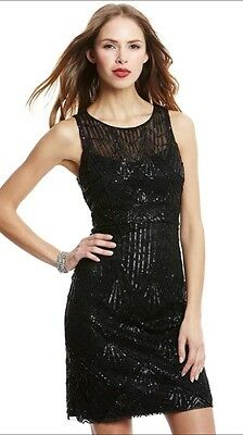 320f3f8a6a8 SUE WONG 1920 s Gatsby Black Beaded Sequin Embellished Illusion Dress 2