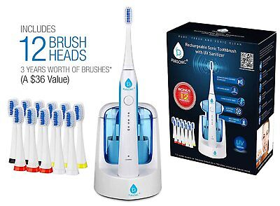 Pursonic S750 Sonic SmartSeries Electronic Power Rechargeable Battery Toothbrush
