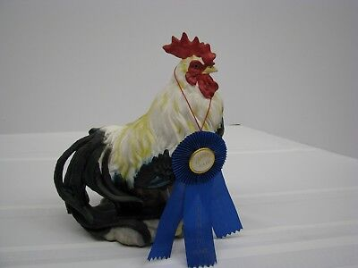 Gorgeous Ceramic Rooster Figurine