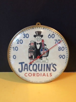JACQUIN'S CORDIALS  America's Best THERMOMETER Advertising (RARE).