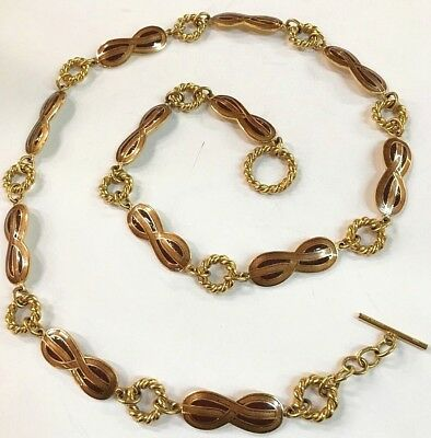40ca4a08f GUCCI, Vintage RARE 70's Disco Glam Gold Enamel Metal Chain Link Belt  /Necklace