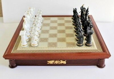 Franklin Mint Chess Set of the Gods Complete Set with Board, Pieces, & Cards