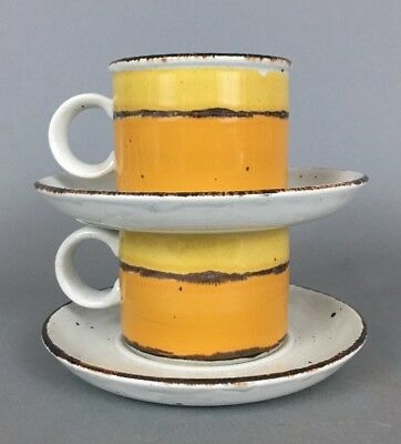 Midwinter Stonehenge Sun Cup And Saucer Set of 2 Mid Century Modern WEDGWOOD
