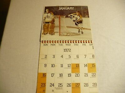 1971-72 Boston Bruins Calendar W/bobby Orr & Other Legends