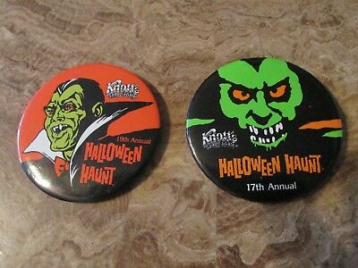 Knotts Halloween Haunt 17th and 19th Annual Buttons Knotts Scary Farm Buttons