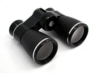 Vintage Sears 4X30 Binoculars In Split Leather Case- Extremely Rare Small Model!