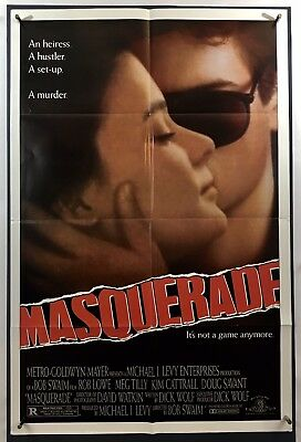 MASQUERADE Movie Poster (Fine+) One Sheet 1988 Rob Lowe Meg Tilly 1811