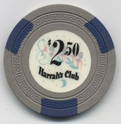 Harrah's Club $2.50 Reno and Lake Tahoe R-8 Condition Rarity!