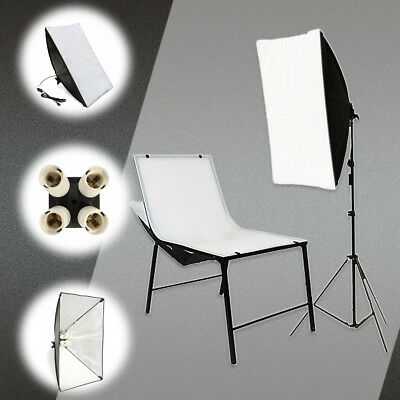 Photo Studio Video Photography Lighting Softbox 50*70cm+4 in1 E27 Socket