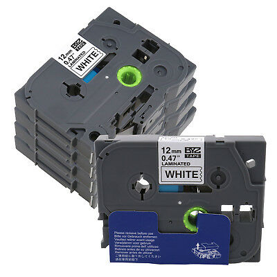 EZ 5X Fit  for Brother P-Touch Label Tape TZ-231 TZe-231 Black on White 12mm