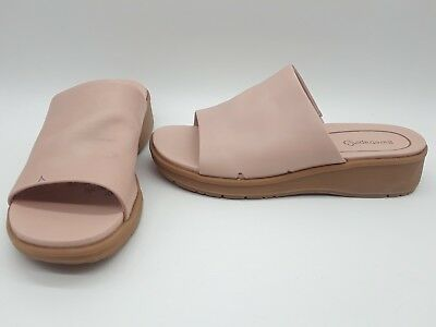 f5fd11431a Baretraps Rebecca Women Shoes Slip-on Wedge Sandals Cameo Rose Leather Sz  7.5