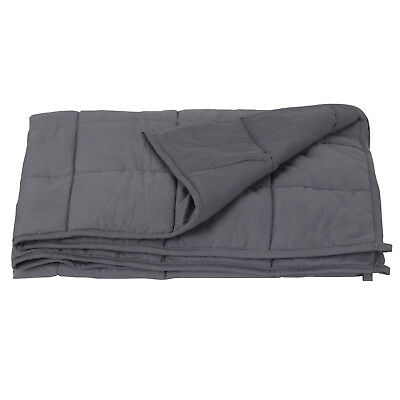 "60"" x80"" Weighted Blanket  Full Queen Size Reduce Stress Promote Deep Sleep 20lb"