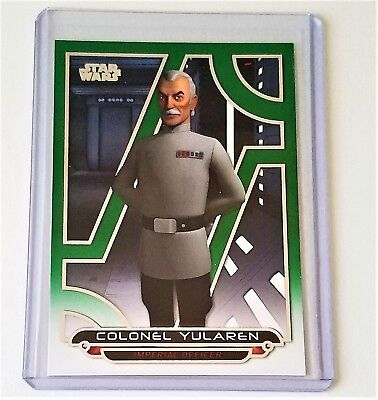 Topps Star Wars Galactic Files 2018 Colonel Yularen 113/199 Green Parallel