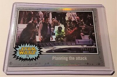 Topps Star Wars Journey To The Force Awakens #71 Planning The Attack 008/150