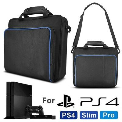 For PS4/Pro/Slim Game Console/Controller Portable Carry Travel Case Shoulder Bag