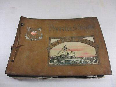 WWII Photo Album 85+ Photographs U.S.Coast Guard Navy Soldiers Military Service