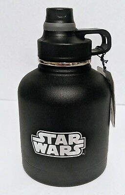 Star Wars 32 oz Vacuum Stainless Steel Growler Bottle Black Spill Proof