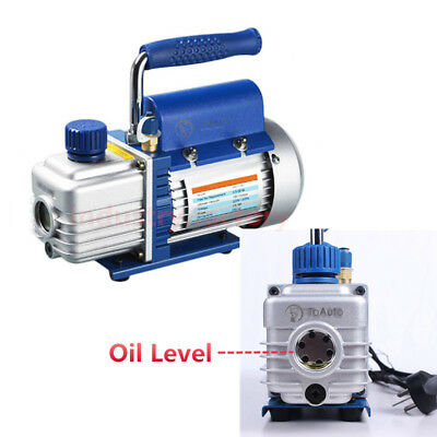 Mini Rotary Vane Vacuum Pump 1-Stage 3.2CFM 1/4HP 220V Air Condition Refrigerant