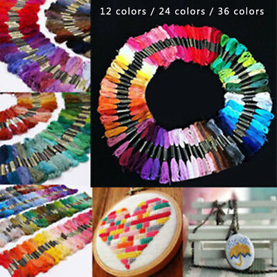 Multi Threads Needlework DIY Embroidery Craft Stitch Sewing 12/24/36/72-Colors