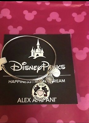 Disney Alex and Ani Just Engaged Mickey Minnie Kiss Bracelet Bangle Alex & Ani