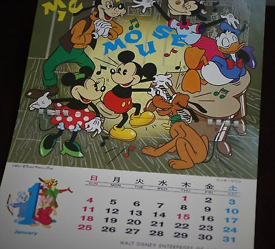 Walt Disney Enterprises Japan 1976 Calendar America on Parade Tokyo Disneyland