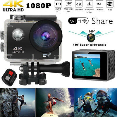 Ultra 4K Full HD 1080P Waterproof Sports Camera WiFi Action Camcorder as Go Pro