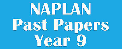 NAPLAN Past Papers Year 9 with answers