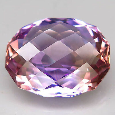 19.68ct.Twinkling! 100%Natural Bi Color Ametrine Unheated Bolivia AAA Rare Nr!.