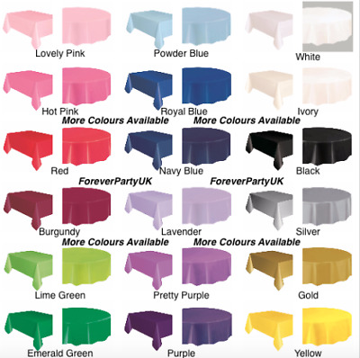 11Colors Plastic TableCloth Party Wedding Rectangle/Round Disposable Table Cover