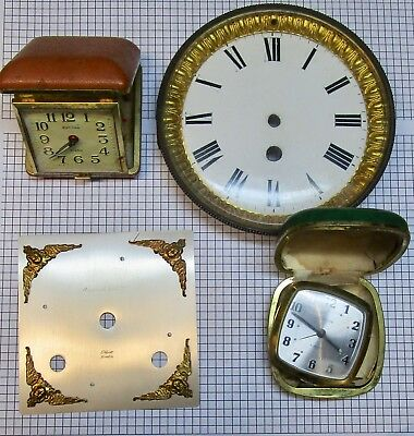 Mixture of clock spares, Mappin & Webb, Elliot, alarm, French - no reserve